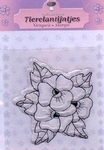 Clearstamp Nel van Veen N001 Bloem viooltjes