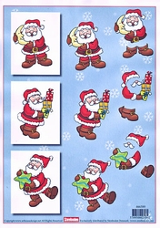 A4 Kerstknipvel Stenboden 466589 Kerstman maan/ster