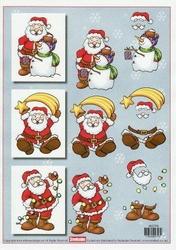 A4 Kerstknipvel Stenboden 466594 Kerstman sneeuwman