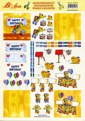 A4 Knipvel Stenbode 0038.08 Bobo Happy birthday
