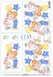A4 Knipvel Stenbode 466003 Kinderen met balonnen