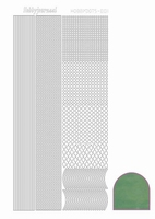 Stickervel Hobbydots Mirror STDM011 apple/groen