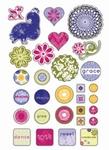 Epoxy stickers ZIN-185 Zinnia