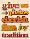 K&Company Adhesive Chipboard Fall Harvest Words