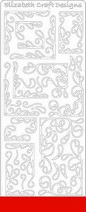 Elizabeth Craft Designs Sticker 0359 Hoeken