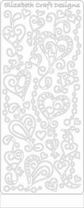 Elizabeth Craft Designs Sticker 0358 doodle harten