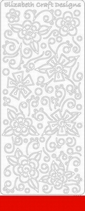Elizabeth Craft Designs Sticker 0363 Doodle bloemen