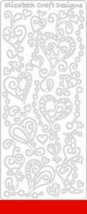 Elizabeth Craft Designs Sticker 0358 doodle harten