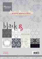 MD Pretty Paper bloc PK9070 black & white