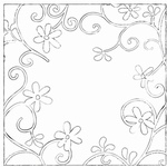 MD Clear stamps CS0843 flowers