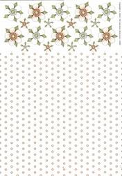 A4 Achtergrondvel Nel van Veen 3309 bloem-stip zalm