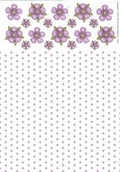 A4 Achtergrondvel Nel van Veen 3312 bloem-stip lila
