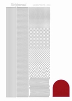 Stickervel Hobbydots Mirror STDM014 red