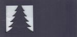 Stanskaart Kerstboom Nachtblauw