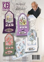 Creatief Art SWK85-003 Staf Wezen Set up kaarten met bloemen