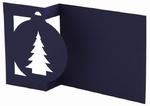 Stanskaart Kerstboom/bal Blauw