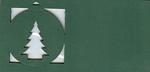 Stanskaart Kerstboom/bal Groen