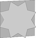 Romak stanskaart Vierkant ster 22 ivoor