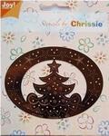 Chrissie Borduurstencil 6001-1040 Kerstboom