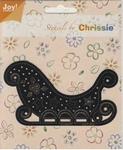 Chrissie Borduurstencil 6001-1042 Kerst arreslee