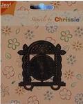 Chrissie Borduurstencil 6001-1041 Oudjaarsklok