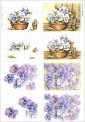 A4 Knipvel Wekabo 425 Bloemen/viooltjes