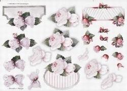A4 Knipvel Wekabo 675 Stukjes met roos