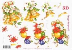A4 Knipvel Le Suh Kerst  416911 Kerstbollen/klokken