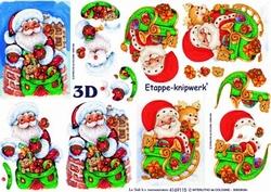 A4 Knipvel Le Suh Kerst 4169115 Kerstman met slee