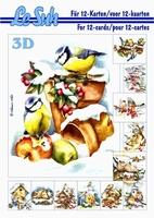 A5 Le Suh boek 345654 Kerstmis Vogels in de winter