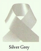 Satijn lint 3mm grijs