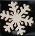 Hout wit ornamament 07 Grote sneeuwvlok
