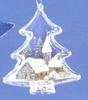 Plastic transparant denneboom 2-delig