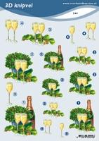 3D Knipvel A5 Voorbeeldkaarten 244 Champagne groen
