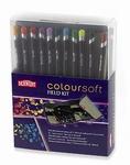 Derwent Coloursoft Fieldkit met 14 potloden