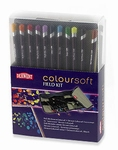 Derwent Coloursoft Fieldkit met 14 potloden
