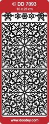 Kerst Stickervel Doodey DD7093 Hoeken Sneeuwvlokken