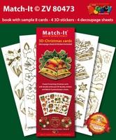 Doodey Boek Match-It® ZV80473 3D Kerst klokken/kaarsen