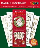 Doodey Boek Match-It® ZV80472 3D Kerstman/sneeuwman