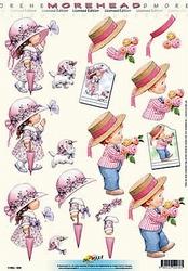 Morehead A4 Knipvel 036 Meisje met parasol