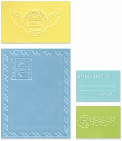Sizzix textured impressions folder 657668 Mail set