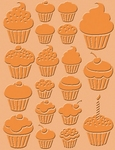 Craft Concepts embossing folder CR900004 cupcakes