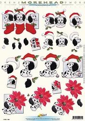 Morehead A4 Kerst Knipvel 060 Kerst Dalmatier