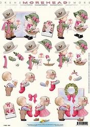 Morehead A4 Kerst Knipvel 059 Koppeltje met kerstcado's