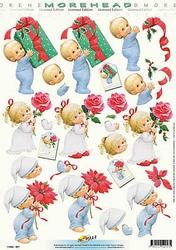 Morehead A4 Kerst Knipvel 057 Kind met cado