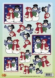 A4 Knipvel Carddeco Matori CD10105 Sneeuwpop