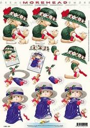 Morehead A4 Kerst Knipvel 015 Meisje met poes