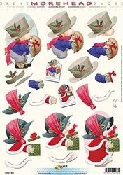 Morehead A4 Kerst Knipvel 058 Jongetje met egel