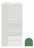 Stickervel Hobbydots Mirror STDM032 green