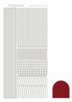 Stickervel Hobbydots Mirror STDM034 red